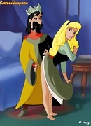 King Stefan fucks Aurora with his royal cock!