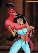 Jasmine gets raped by the evil Genie. Jasmine has fallen into the clutches of an evil genie, bent on raping her!